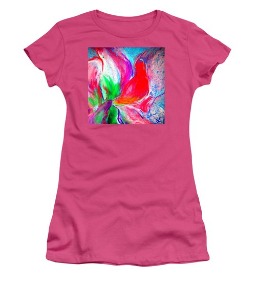 Funky Amaryllis Lily Women's T-Shirt (Athletic Fit)