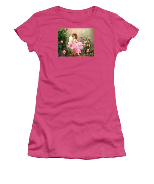 Angel And Baby  Women's T-Shirt (Junior Cut) by Catherine Lott