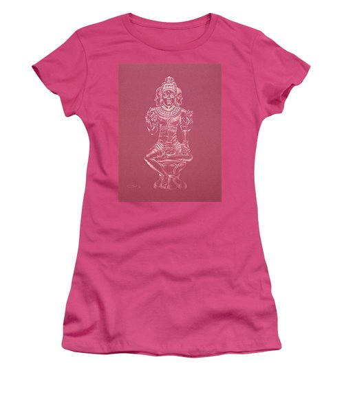 Women's T-Shirt (Junior Cut) featuring the drawing Ardhanarishvara II by Michele Myers