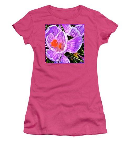 Awakening #flowers #spring #bulbs Women's T-Shirt (Athletic Fit)