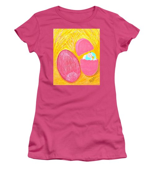 Baby Egg Women's T-Shirt (Junior Cut) by Lorna Maza