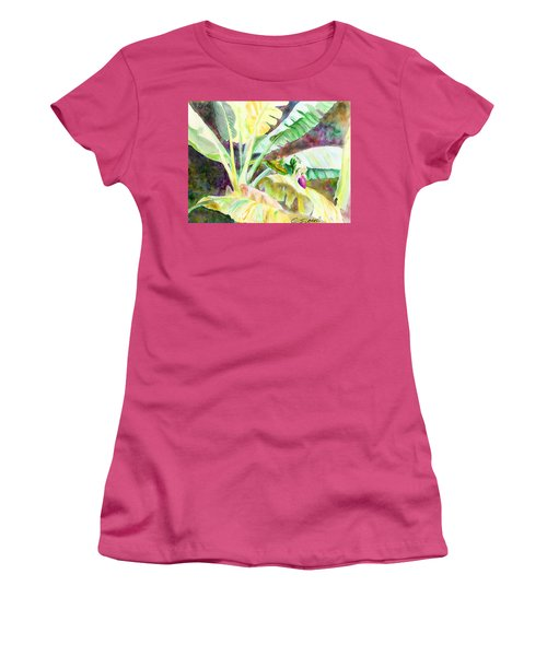 Banana Tree Women's T-Shirt (Junior Cut) by C Sitton