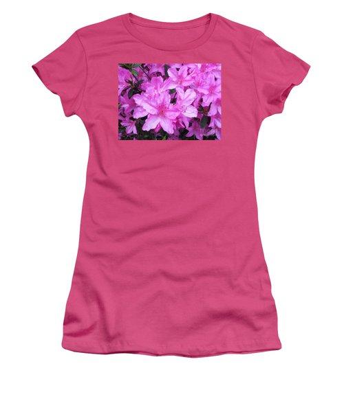 Azaleas Women's T-Shirt (Junior Cut) by Donna Dixon