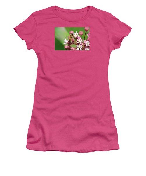 Crazy For Milkweed Women's T-Shirt (Junior Cut) by Lucinda VanVleck
