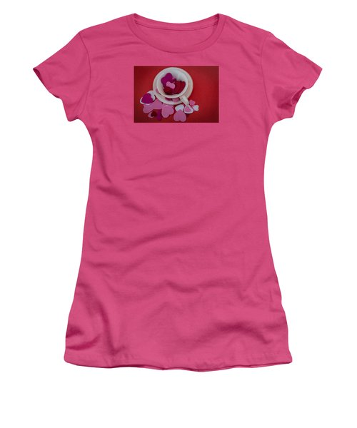 Cup Full Of Love Women's T-Shirt (Junior Cut) by Patrice Zinck