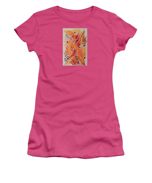 Dolphins And Fish Women's T-Shirt (Junior Cut) by Lyn Olsen