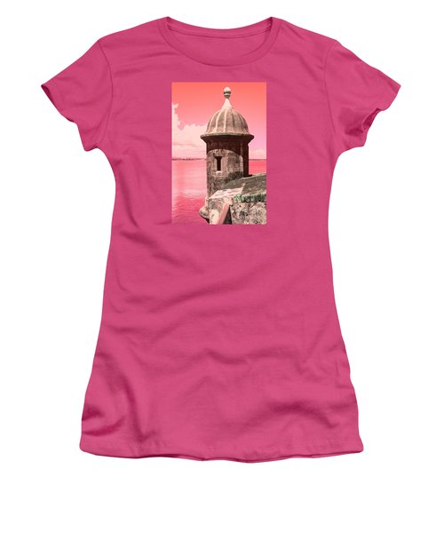 El Morro In The Pink Women's T-Shirt (Athletic Fit)