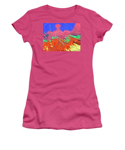 Erupting Lava Meets The Sea Women's T-Shirt (Junior Cut) by Joseph Baril