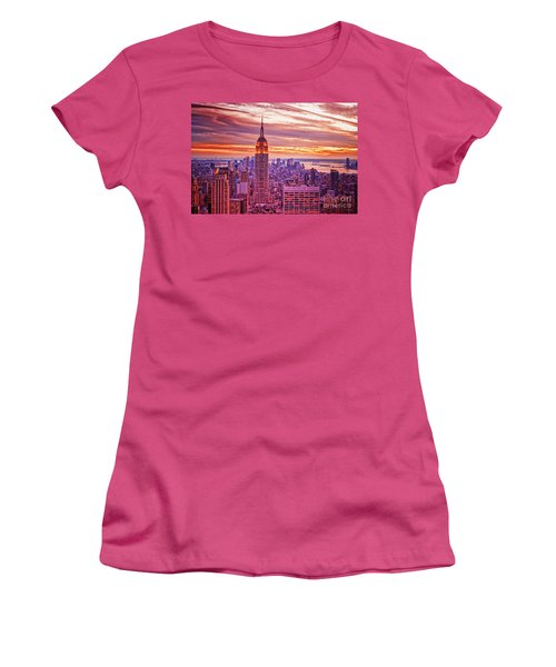 Evening In New York City Women's T-Shirt (Junior Cut) by Sabine Jacobs