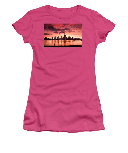 Fishing The Mississippi In St Louis Women's T-Shirt (Athletic Fit)
