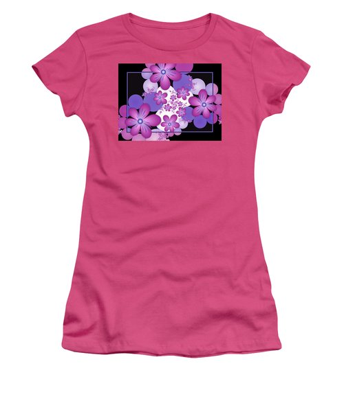 Fractal Flowers Modern Art Women's T-Shirt (Junior Cut) by Gabiw Art
