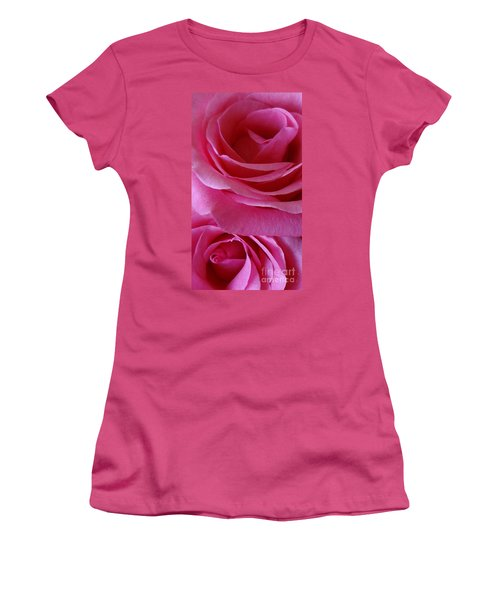 Face Of Roses 3 Women's T-Shirt (Junior Cut) by Gem S Visionary