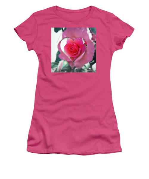 Valentine's Day Rose Women's T-Shirt (Athletic Fit)