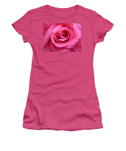 Gorgeous Pink Rose Women's T-Shirt (Junior Cut) by Vicki Spindler