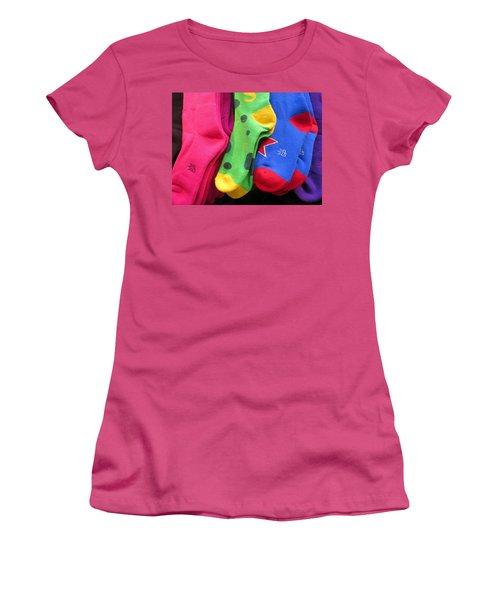 Wear Loud Socks Women's T-Shirt (Athletic Fit)
