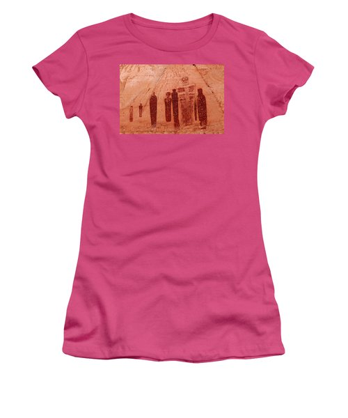 Horseshoe Canyon Pictographs Women's T-Shirt (Athletic Fit)