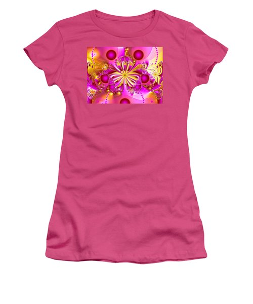 Hot Orchid Women's T-Shirt (Junior Cut) by Sylvia Thornton