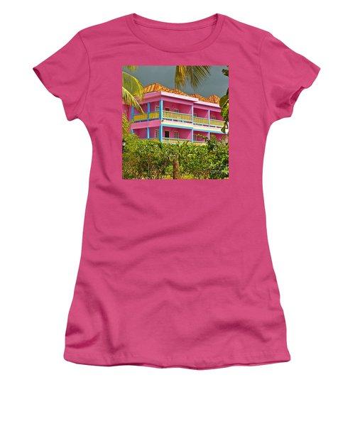 Hotel Jamaica Women's T-Shirt (Junior Cut) by Linda Bianic