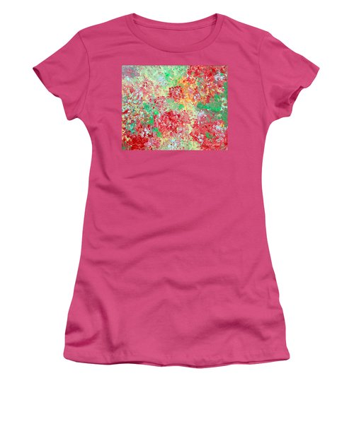 Women's T-Shirt (Junior Cut) featuring the painting Hydrangeas II by Alys Caviness-Gober