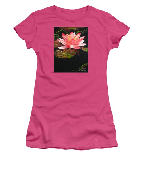 Women's T-Shirt (Junior Cut) featuring the painting In Full Bloom by Janet McDonald