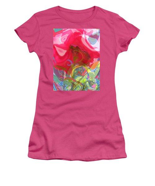 Just A Wild And Crazy Rose Women's T-Shirt (Junior Cut) by Brooks Garten Hauschild