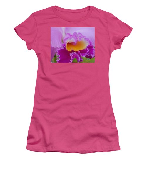 Women's T-Shirt (Junior Cut) featuring the photograph Lavender Orchid by Aimee L Maher Photography and Art Visit ALMGallerydotcom