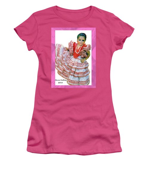 Women's T-Shirt (Junior Cut) featuring the painting Little Lidia by Bruce Nutting