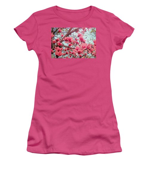Magnolia Blossoms In Spring Women's T-Shirt (Junior Cut) by Janette Boyd