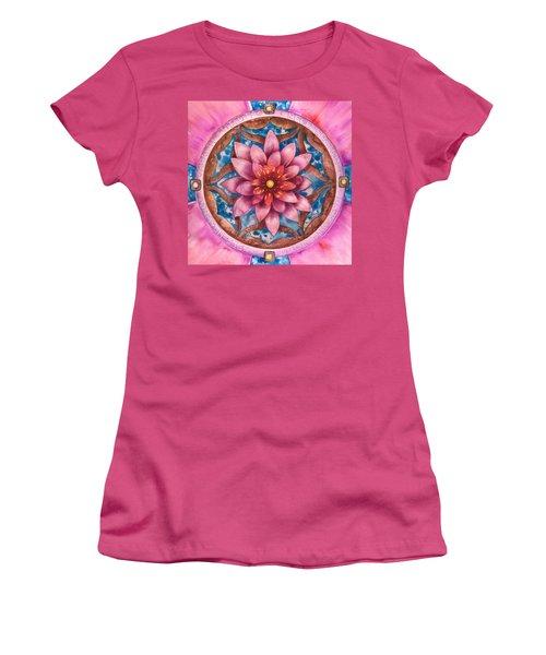 Mandala Of Health Women's T-Shirt (Athletic Fit)