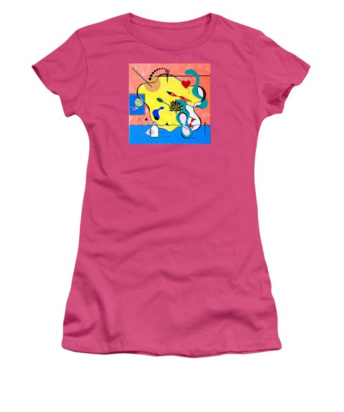 Miro Miro On The Wall Women's T-Shirt (Junior Cut) by Thomas Gronowski