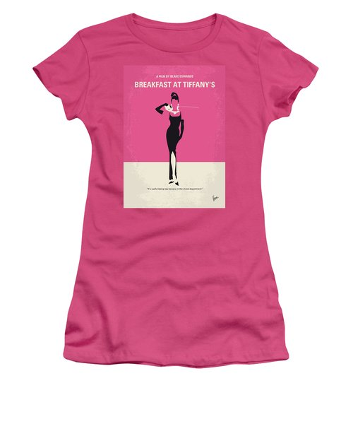 No204 My Breakfast At Tiffanys Minimal Movie Poster Women's T-Shirt (Junior Cut) by Chungkong Art