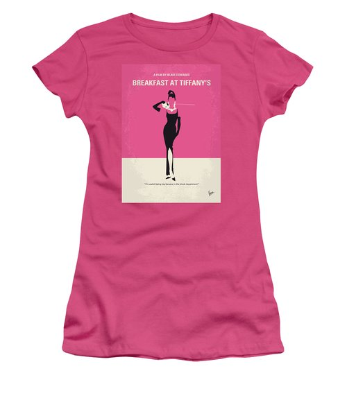 No204 My Breakfast At Tiffanys Minimal Movie Poster Women's T-Shirt (Athletic Fit)