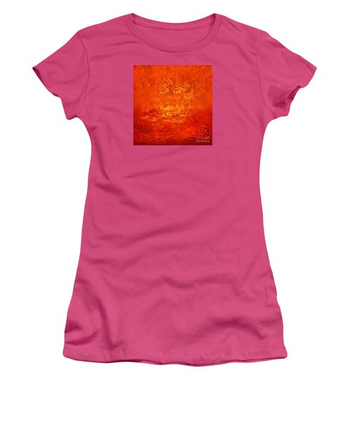 One Night In Old Shanghai By Rjfxx.-original Minimalist Abstract Art Painting Women's T-Shirt (Athletic Fit)