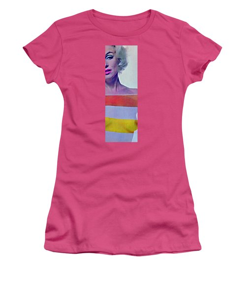 Peek A Boo Marilyn  Monroe Women's T-Shirt (Junior Cut) by Joan Reese