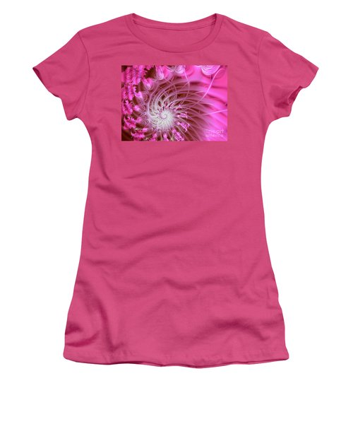 Pink Women's T-Shirt (Junior Cut) by Lena Auxier