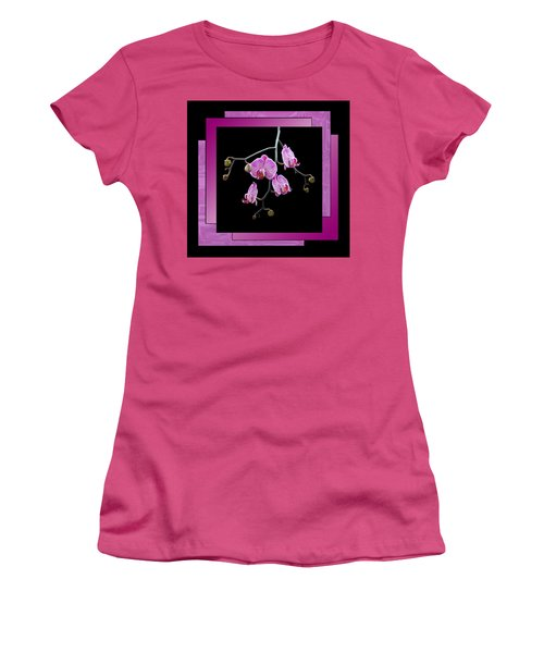Women's T-Shirt (Junior Cut) featuring the photograph Framed Orchid Spray by Patti Deters