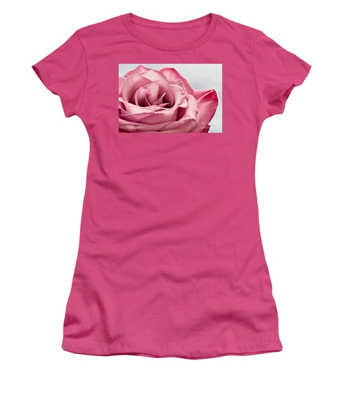 Pink Rose Macro Women's T-Shirt (Junior Cut) by Carsten Reisinger