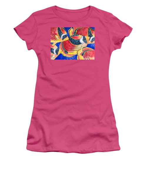 Raccoon Butterflyfish Women's T-Shirt (Athletic Fit)