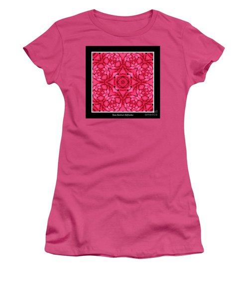 Women's T-Shirt (Junior Cut) featuring the photograph Ranunculus Flower Warp by Rose Santuci-Sofranko