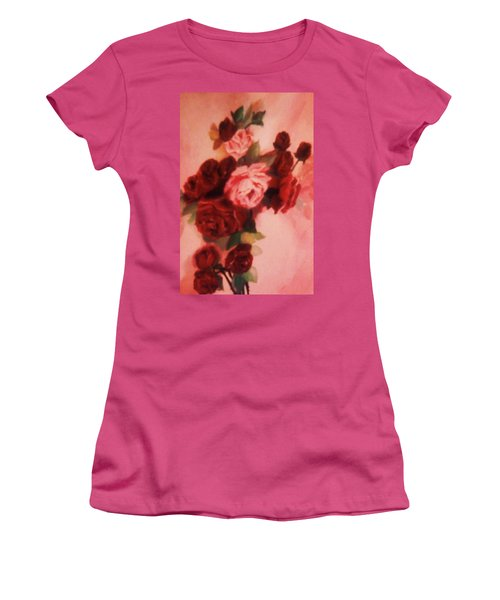 Red And Pink Roses Women's T-Shirt (Junior Cut) by Christy Saunders Church