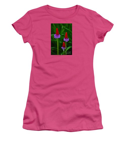 Red Hot Pokers Women's T-Shirt (Junior Cut) by Cynthia Lagoudakis