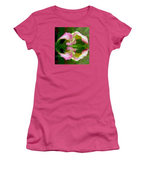 Reflecting Lily Women's T-Shirt (Junior Cut) by Michele Avanti