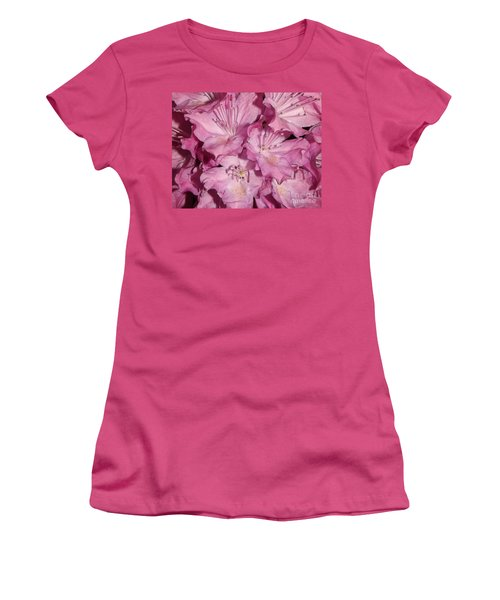 Rhododendron Bliss Women's T-Shirt (Junior Cut) by Sara  Raber