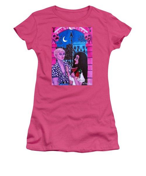 Romantic Couple Women's T-Shirt (Junior Cut) by Don Pedro De Gracia