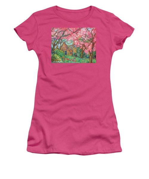 Secluded Home Women's T-Shirt (Junior Cut) by Kendall Kessler