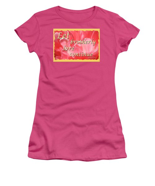 Spiritual Love - Bordered Women's T-Shirt (Junior Cut)