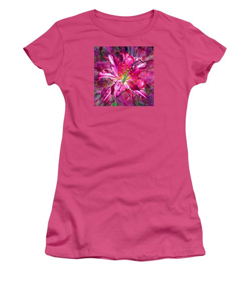 Star Gazing Stargazer Lily Women's T-Shirt (Junior Cut) by Michele Avanti