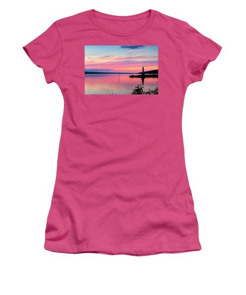 Sunset On Cayuga Lake Ithaca New York Women's T-Shirt (Junior Cut) by Paul Ge