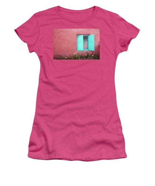 Women's T-Shirt (Junior Cut) featuring the photograph Taos Window I by Lanita Williams