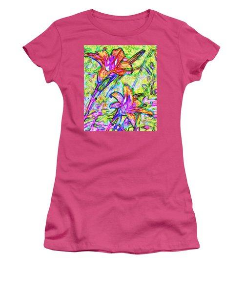 Tiger Lillies Women's T-Shirt (Junior Cut) by Ian  MacDonald